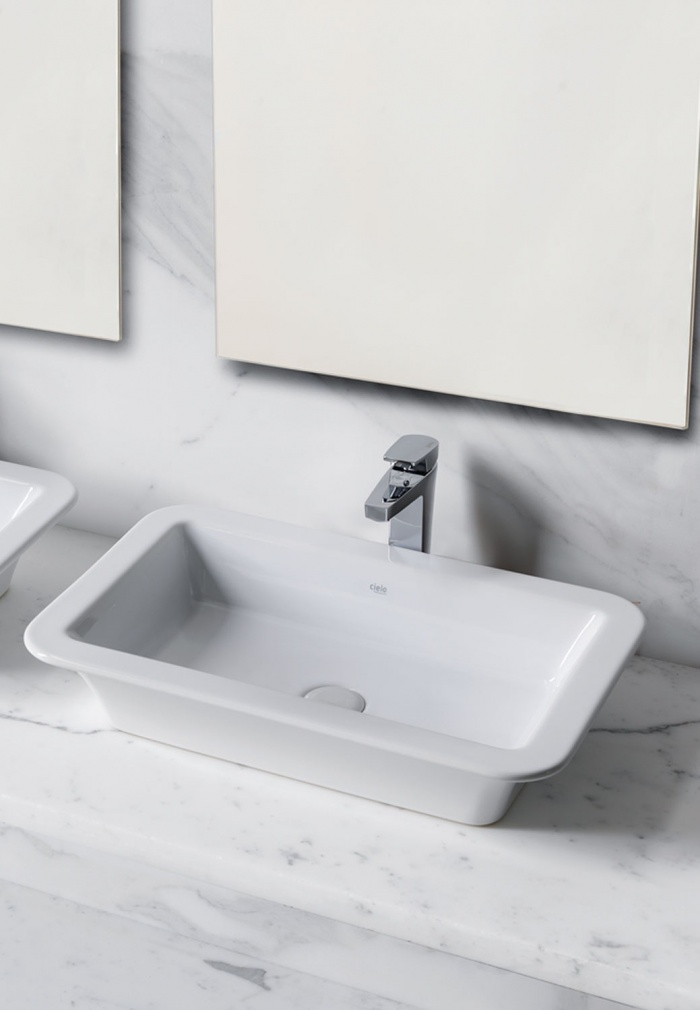 Opera 64 washbasin Gloss White