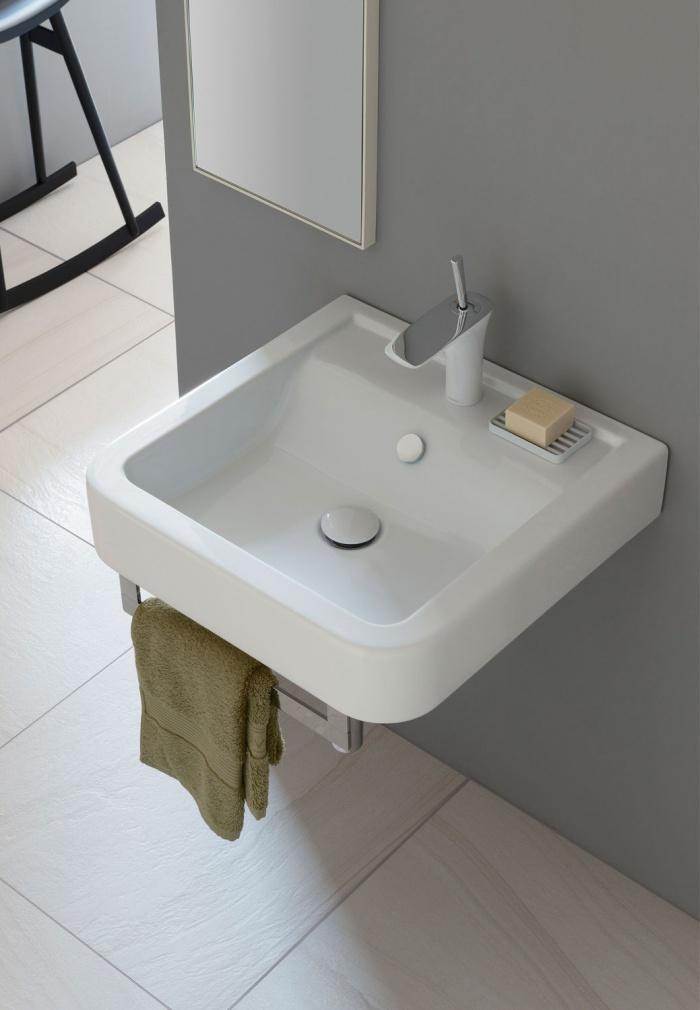 Opera 52 washbasin Gloss white.
