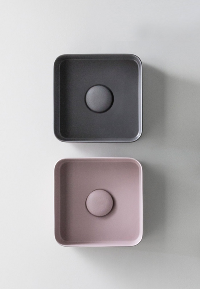Minimo Quadrato washbasins - Cipria and Cemento