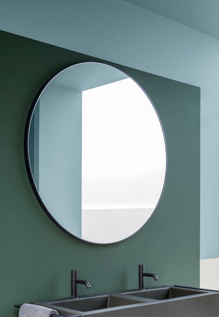 Round mirror. Nero Matt finishes.