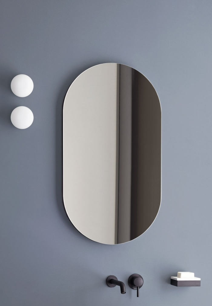 Oval mirror.