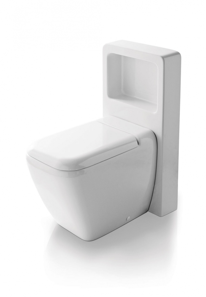 Back to wall wc with Magic Box - glossy white