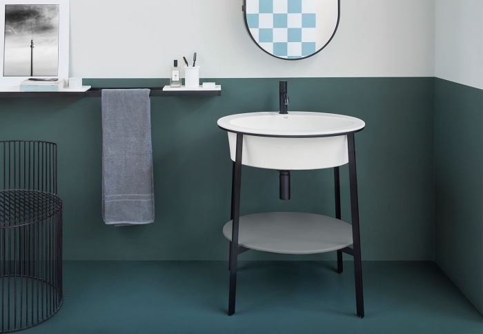 Talco washbasin, Brina top, Nero Matt framework