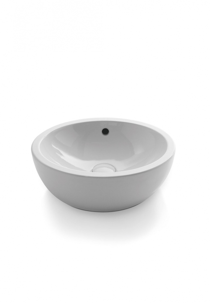Bowl. Glossy White finishes.