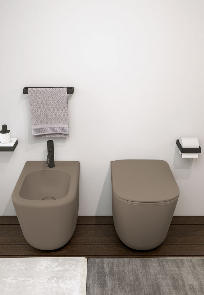 Back to wall wc and bidet - Arenaria