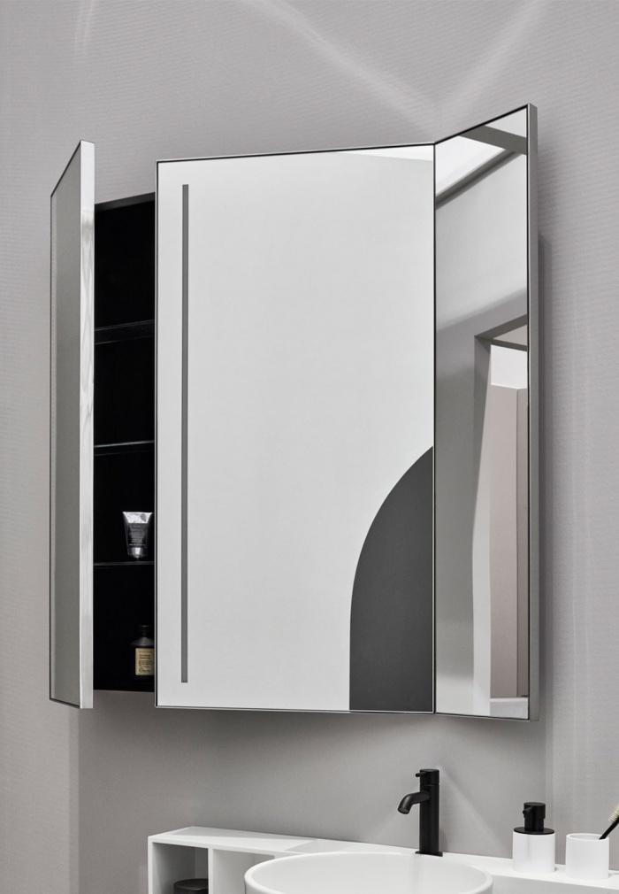 Specchio Pan con luce led e contenitore laterale
