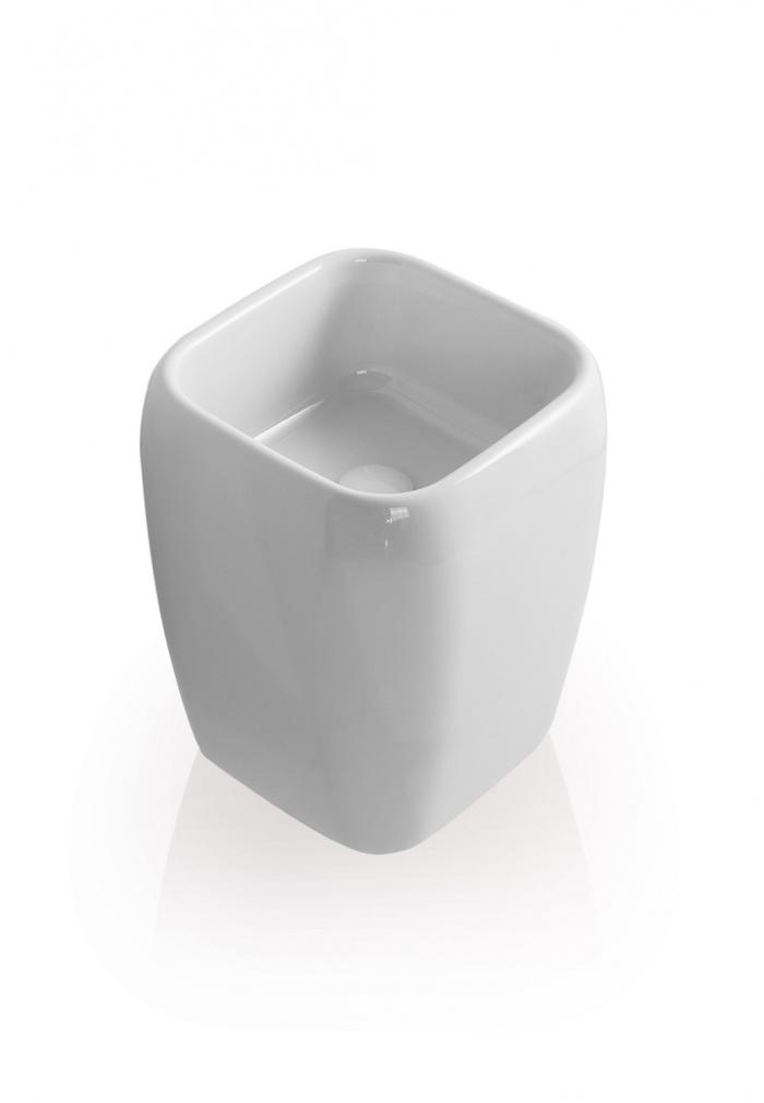 Half pedestal washbasin - glossy white