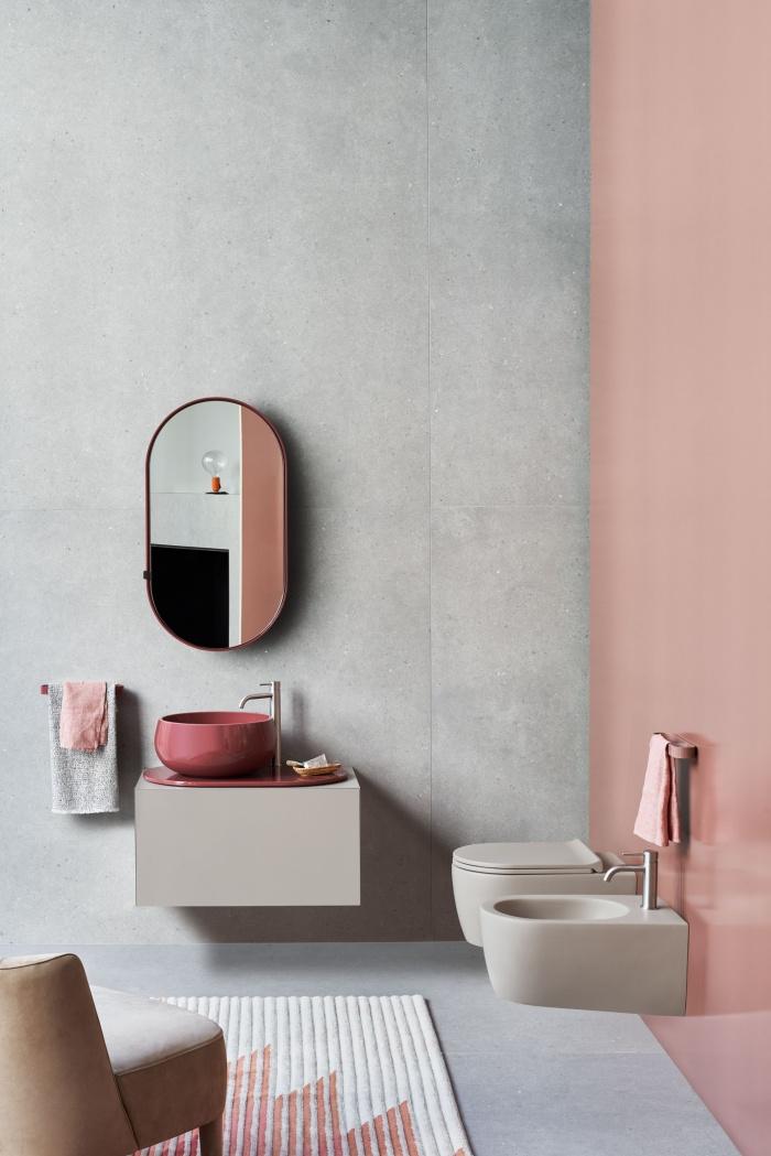 Talco washbasin and tray, Eucalipto cabinet. Eos-C mirrors.