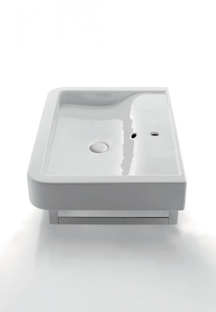 Opera 80 washbasin Gloss white.
